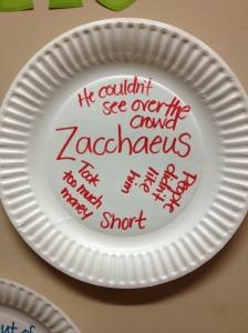 Zacchaeus Plate